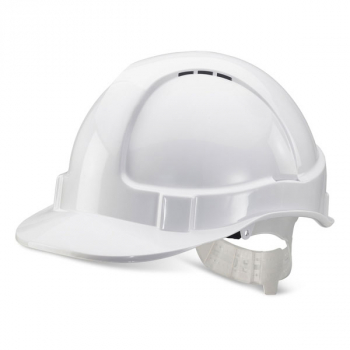 Economy Vented Safety Helmet w/ Plastic Harness
