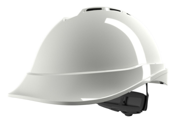 V-Gard 200 Vented Fas-Trac 3 White Safety Helmet
