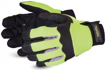 Clutch Gear Hi-Viz Mechanics Gloves