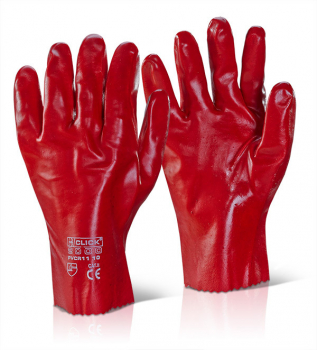 PVC Red Gauntlets