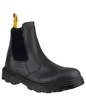 FS129 Water Resistant Pull on Safety Dealer Boots Black