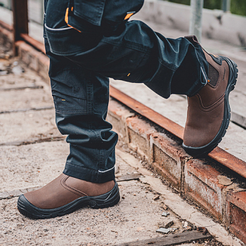 804SM Contractor Brown Dealer Boots