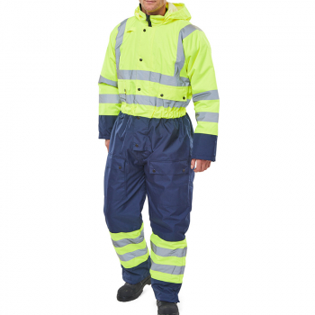 Click Two Tone Hi-Vis Waterproof Coverall