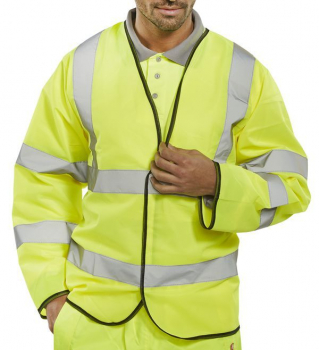 B-Seen Hi-Vis Long Sleeved Jerkin
