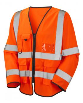 B-Seen Hi-Vis Executive Long Sleeved Jerkin