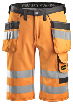 Snickers Hi-Vis Shorts Holster Pockets Class 1