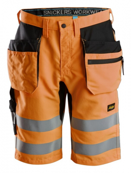 Snickers LiteWork, Hi-Vis Shorts+ Holster Pockets Class 1
