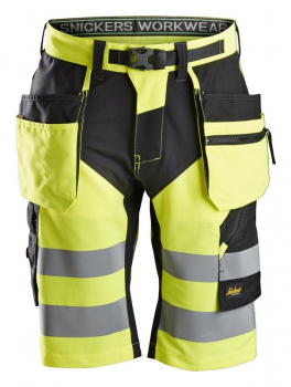 Snickers FlexiWork, Hi-Vis Shorts+ Holster Pockets Class 1