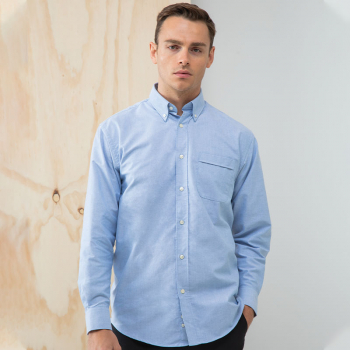 Henbury Classic Oxford Long Sleeve Shirt