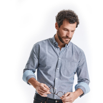 Russell Tailored Washed Oxford Long Sleeve Shirt