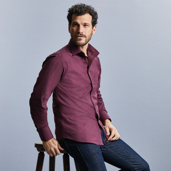 Russell Easycare Fitted Long Sleeve Shirt