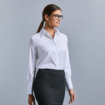 Russell Ultimate Non-Iron Long Sleeve Blouse
