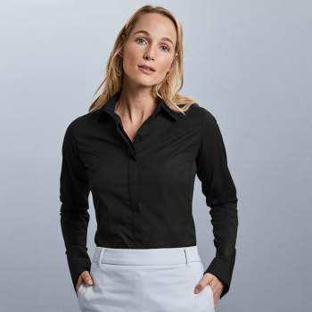 Russell Ultimate Stretch Long Sleeve Blouse