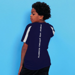 Manor Way Navy & White PE T-Shirt