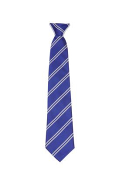 Manor Way Royal & White Clip on Tie