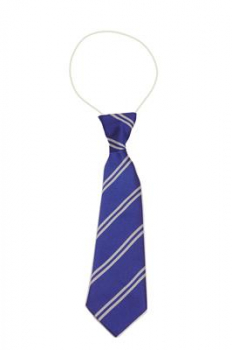 Manor Way Royal & White Elastic Tie